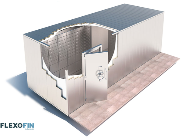 A modular vault room of our design